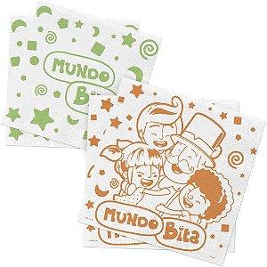 Guardanapo de Papel Festa Festa Mundo Bita - 50 unidades - Regina - Rizzo Embalagens