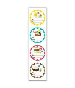 Etiqueta Adesiva Páscoa Estampado - 20 unidades - Miss Embalagens - Rizzo Embalagens