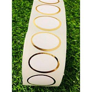 Etiqueta Adesiva Oval Lisa - 1000 unidades - Rizzo Embalagens