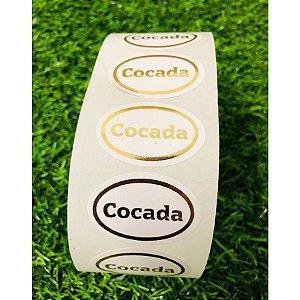 Etiqueta Adesiva Cocada - 1000 unidades - Rizzo Embalagens