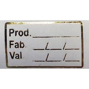 Etiqueta Validade - 1000 unidades - Rizzo Embalagens