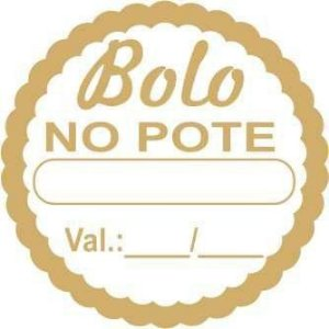 Etiqueta Adesiva Bolo no Pote - 1000 unidades - Rizzo Embalagens
