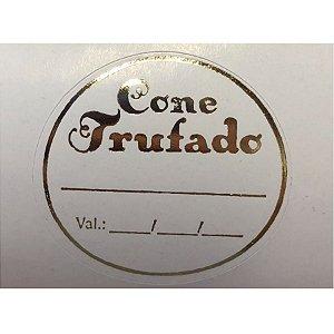 Etiqueta Adesiva Cone Trufado - 1000 unidades - Rizzo Embalagens