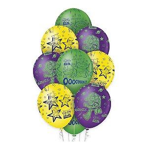 """Balão de Festa Decorado Toy Story 12"""" - 10 unidades - Regina - Rizzo Embalagens"""