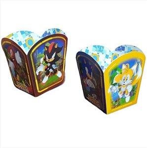 Cachepot de Papel Festa Sonic - 04 unidades - Regina - Rizzo Embalagens