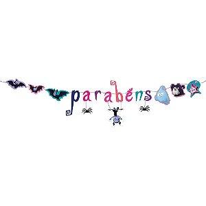 Faixa Decorativa Parabens Festa Vampirina - 01 unidade - Festcolor - Rizzo Festas