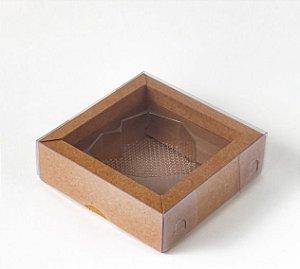 Caixa Coração Lapidado de 70 à 100g Kraft - 05 unidades - Crystal - Rizzo Embalagens