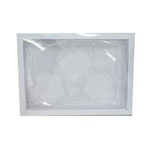 Caixa Coração Lapidado de 70 à 100gr 3 Cavidades Branca - 05 unidades - Crystal - Rizzo Embalagens