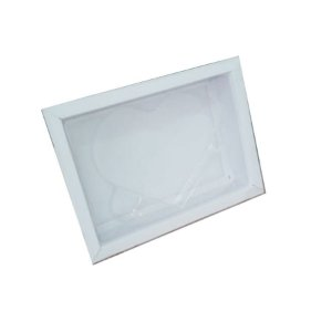Caixa Coração plano P Branca com 5 un. Crystal Rizzo Confeitaria