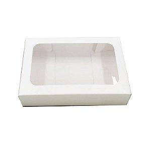 Caixa Envelope Tablete - Branco 12 Gomos - 10 unidades - Crystal - Rizzo Embalagens