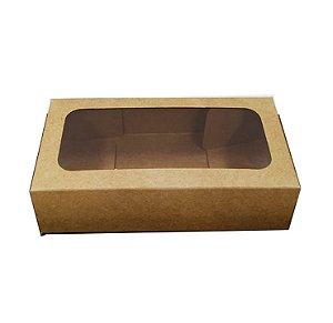 Caixa Envelope Diamantado - Kraft - 7,5X14,5X4,0cm - 10 unidades - Crystal - Rizzo Embalagens