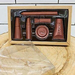 Caixa Maquiagem 6 cavidades Kraft - 05 unidades - Crystal - Rizzo Embalagens