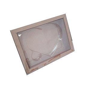 Caixa Coração Plano P Kraft - 05 unidades - Crystal - Rizzo Embalagens
