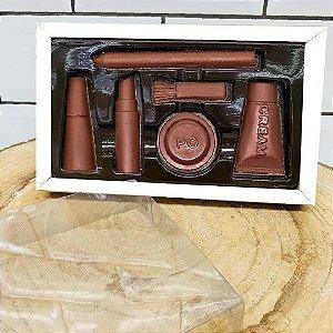 Caixa Maquiagem 6 cavidades Branca - 05 unidades - Crystal - Rizzo Embalagens