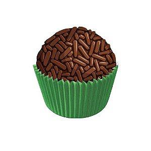 Forminha para Doces N°4 Verde Bandeira - 100 unidades - Junco - Rizzo Embalagens