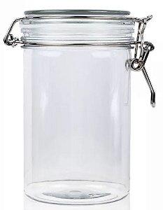 Pote de Vidro Hermético com Tampa de Vidro - 4,5x8,5cm - 100ml -  Rizzo Embalagens
