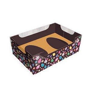 Caixa Para 2 Meio Ovos de Colher 50g - Encanto Ouro Kids Cód 1488 - 10 unidades - Ideia Embalagens - Rizzo