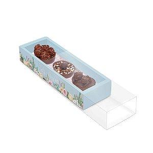 Caixa Luva Moldura para 3 Meio Ovos de 50g Mor John - 06 unidades - Cromus Páscoa - Rizzo Embalagens