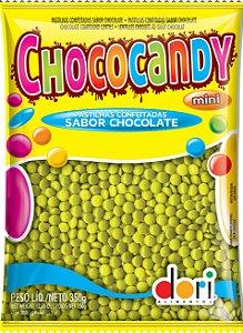 Pastilhas Confeitadas Sabor Chocolate Mini Amarelo 350g - Dori Alimentos - Rizzo Embalagens
