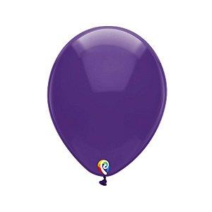 Balão de Festa Látex - Roxo Cristal - Sensacional - Rizzo Embalagens