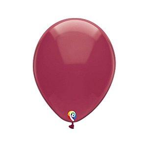 Balão de Festa Látex - Vinho Cristal - Sensacional - Rizzo Embalagens
