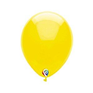 Balão de Festa Látex - Amarelo Cristal - Sensacional - Rizzo Embalagens