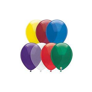 Balão de Festa Látex - Sortido Cristal - Sensacional - Rizzo Embalagens