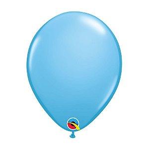 Balão de Festa Látex Liso Sólido - Azul Claro - Qualatex - Rizzo Embalagens