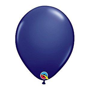 Balão de Festa Látex Liso Sólido - Azul Marinho - Qualatex - Rizzo Embalagens