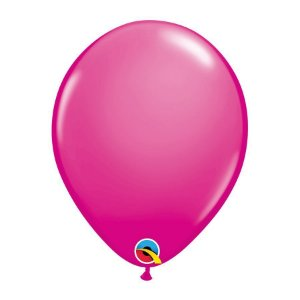 Balão de Festa Látex Liso Sólido - Cereja Intenso - Qualatex - Rizzo Embalagens