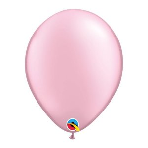 Balão de Festa Látex Liso Perolado - Rosa - Qualatex - Rizzo Embalagens