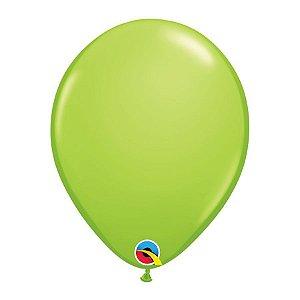 Balão de Festa Látex Liso Sólido - Verde Lima - Qualatex - Rizzo Embalagens