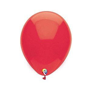 Balão de Festa Látex - Vermelho - Sensacional - Rizzo Embalagens