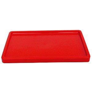 Bandeja Retangular 30x18cm Vermelho - 01 unidade - Só Boleiras - Rizzo Embalagens