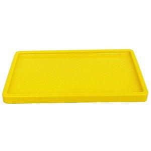 Bandeja Retangular 30x18cm Amarelo - 01 unidade - Só Boleiras - Rizzo Embalagens
