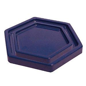 Bandeja Sextavada Azul Marinho - 01 unidade - Só Boleiras - Rizzo Embalagens