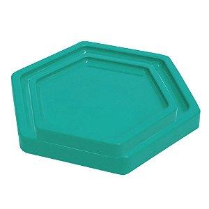 Bandeja Sextavada Verde Esmeralda - 01 unidade - Só Boleiras - Rizzo Embalagens