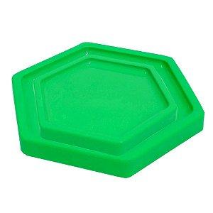 Bandeja Sextavada Verde Limão - 01 unidade - Só Boleiras - Rizzo Embalagens