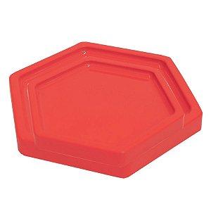 Bandeja Sextavada Coral - 01 unidade - Só Boleiras - Rizzo Embalagens