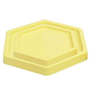 Bandeja Sextavada Creme - 01 unidade - Só Boleiras - Rizzo Embalagens