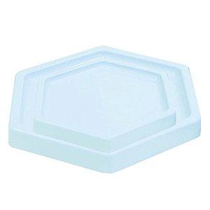 Bandeja Sextavada Azul Claro Candy - 01 unidade - Só Boleiras - Rizzo Embalagens