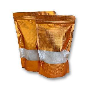 Saco Hermético com Visor - Cobre - 10 unidades - Cromus - Rizzo Embalagens