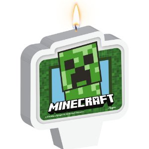 Vela Plana Adesivada Minecraft 01 Unidade - Regina - Rizzo Festas