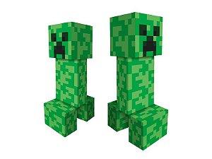 Personagem 3D Minecraft 03 Unidades - Regina - Rizzo Festas