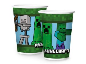 Copo Papel 180 Ml Minecraft 12 Unidades - Regina - Rizzo Festas