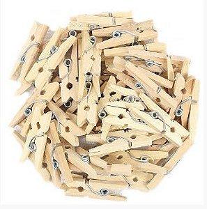 Mini Prendedor de madeira kraft 2,5cm - 30 peças