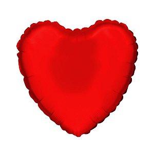 """Balão de Festa Microfoil Coração Vermelho - Aprox. 18"""" 45cm - 01 Unidade - Rizzo Embalagens"""
