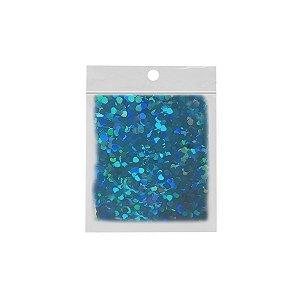 Confete Coração 10g - Holográfico Azul - Rizzo Embalagens