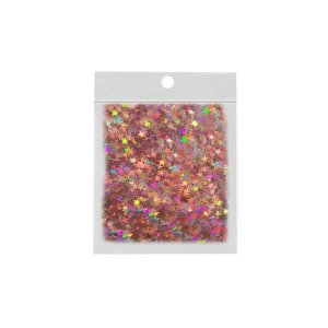 Confete Estrela 10g - Holográfico Rosa - Rizzo Embalagens