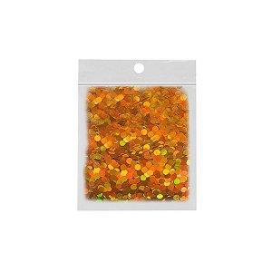 Confete Redondo 10g - Holográfico Dourado - Rizzo Embalagens